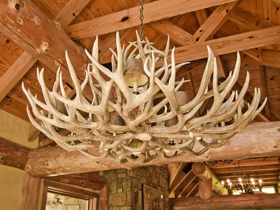 a unique antler chandelier design
