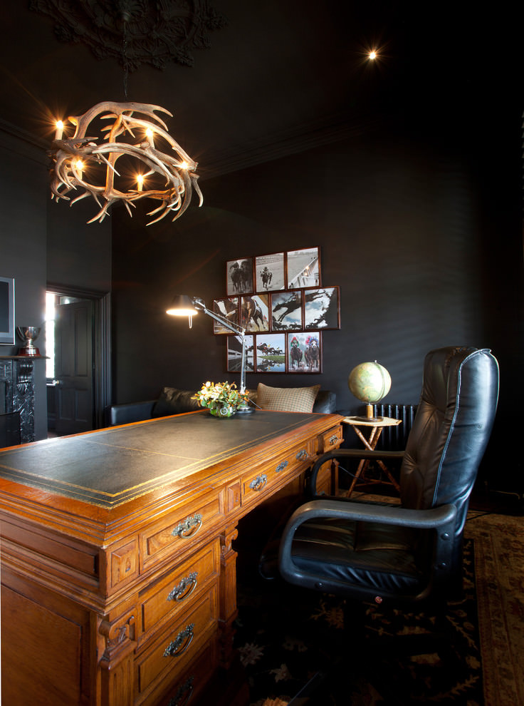 contemporary home office antler chandelier design