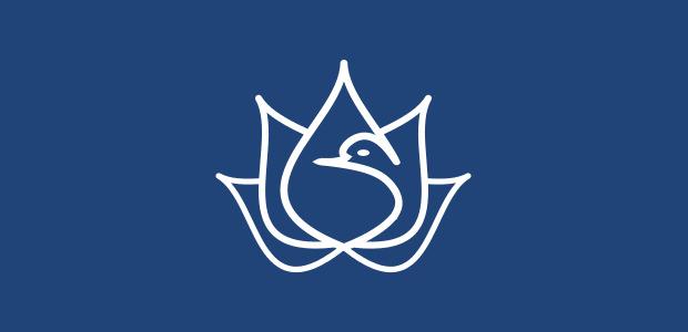 flower shape dove bird logo