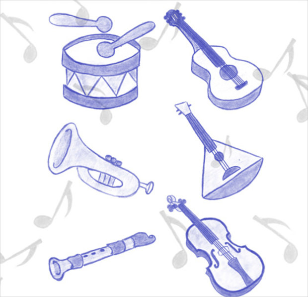 94 Musical Instrument Brushes