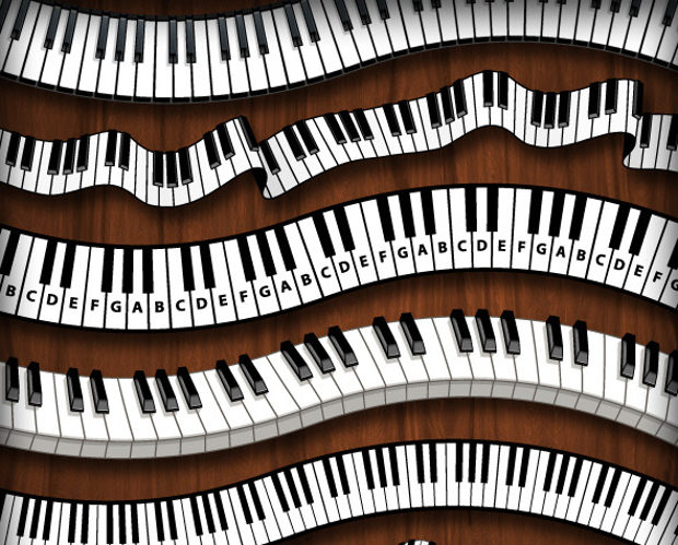 6 Unique Piano Keys Brushes