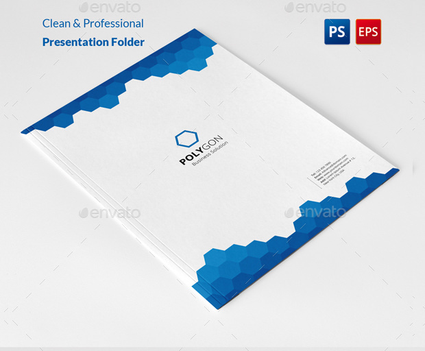 Polygon Professional Presentation Folder