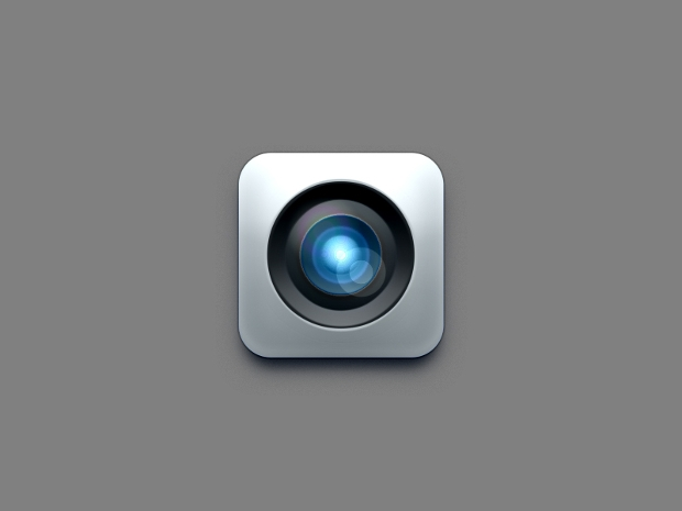 camera lens icon psd design