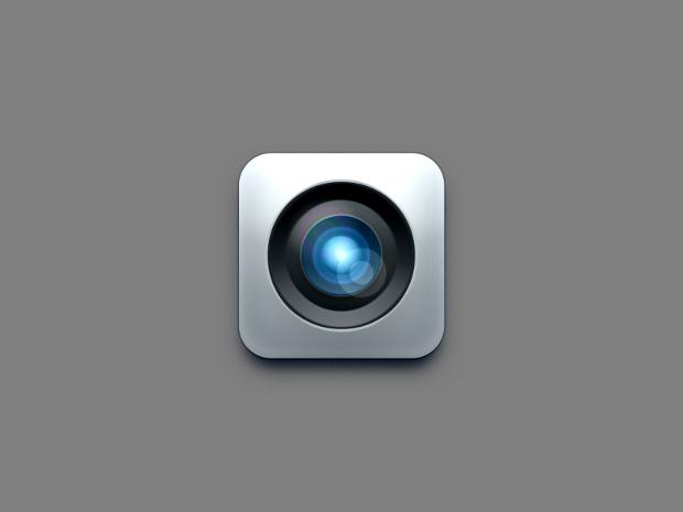 Camera Lens Icon Psd Design