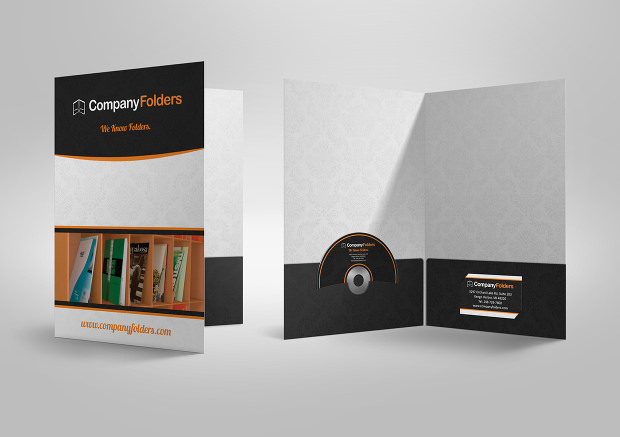 awesome company presentation folder template