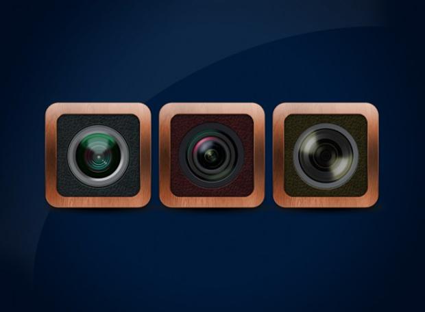 lens icon free psd