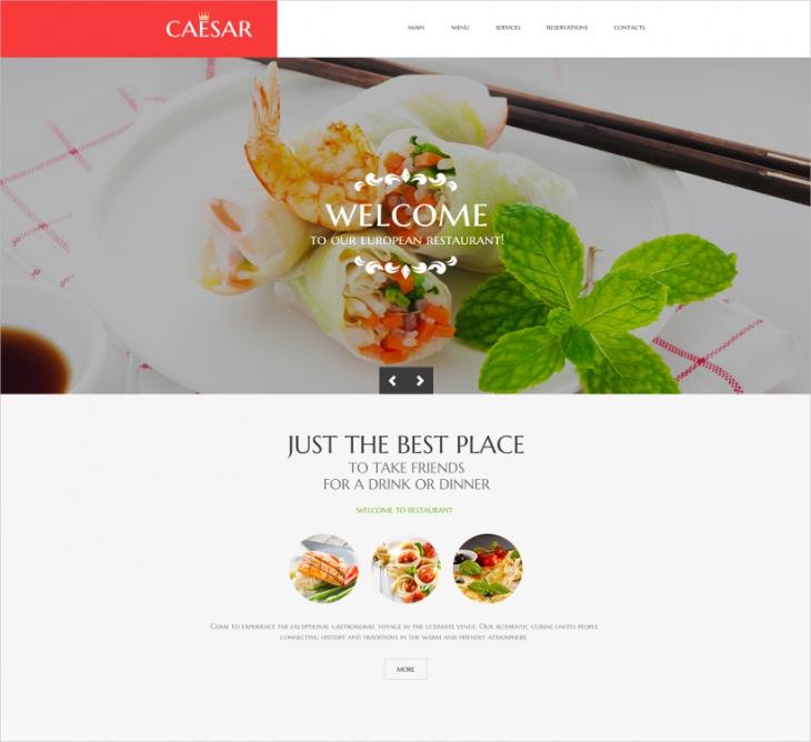 Parallax Restaurant Template