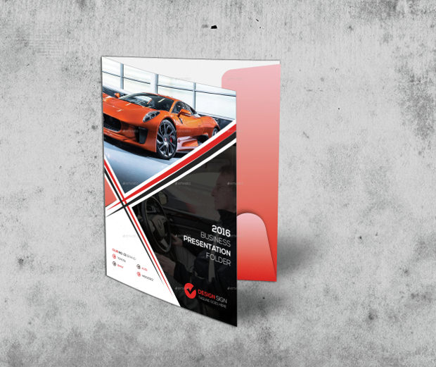 customisable rent a car presentation folder template