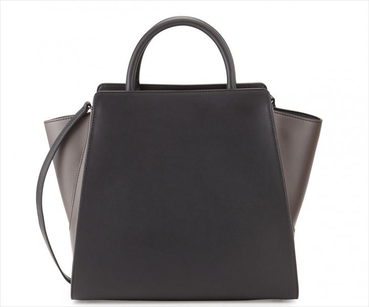 zac zac posen silvertone attractive handbag