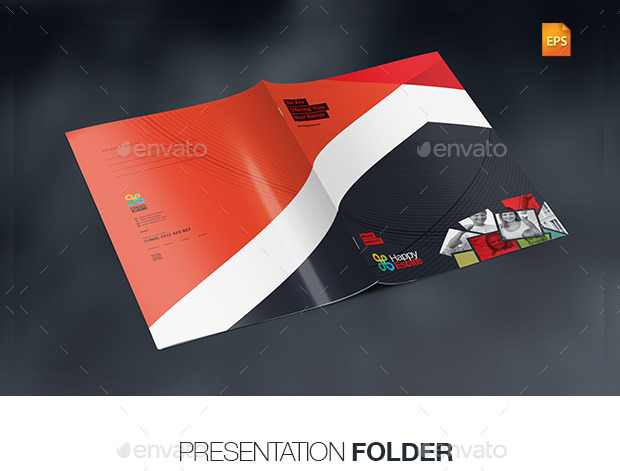 6 Color Scheme Multipurpose Presentation Folder