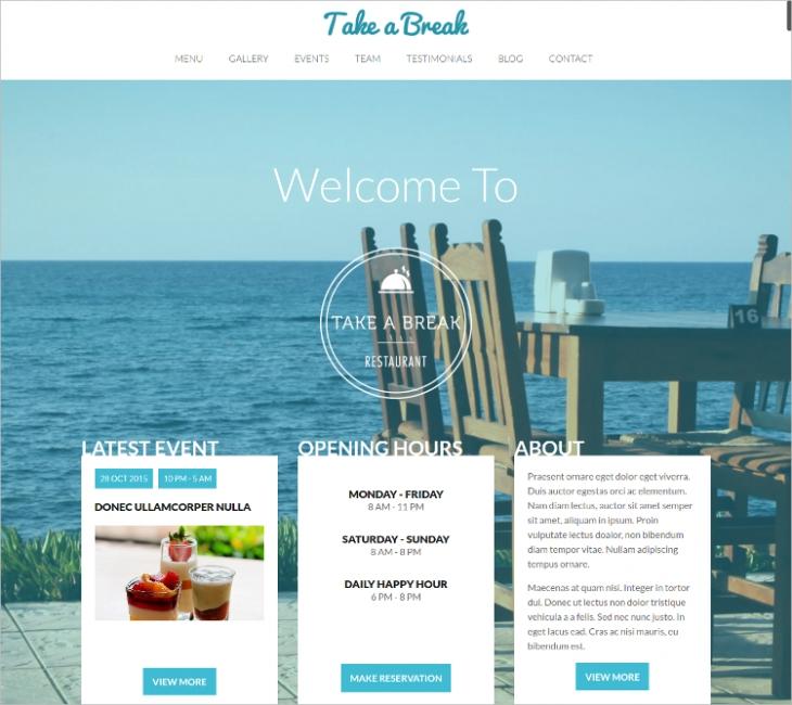 Beautiful Restaurant HTML5 Template