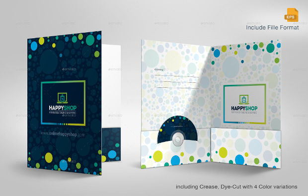 happy shop business presentation folder template