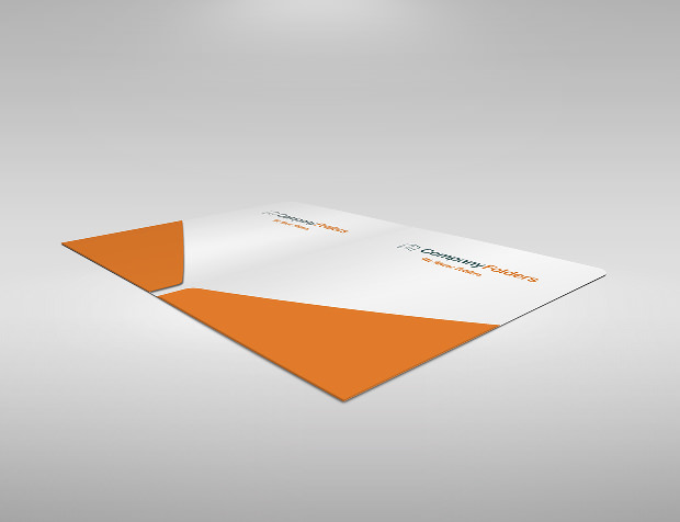 two diagonal presentation folder template