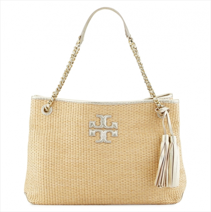 Tory Burch Metallic Leather Handbag