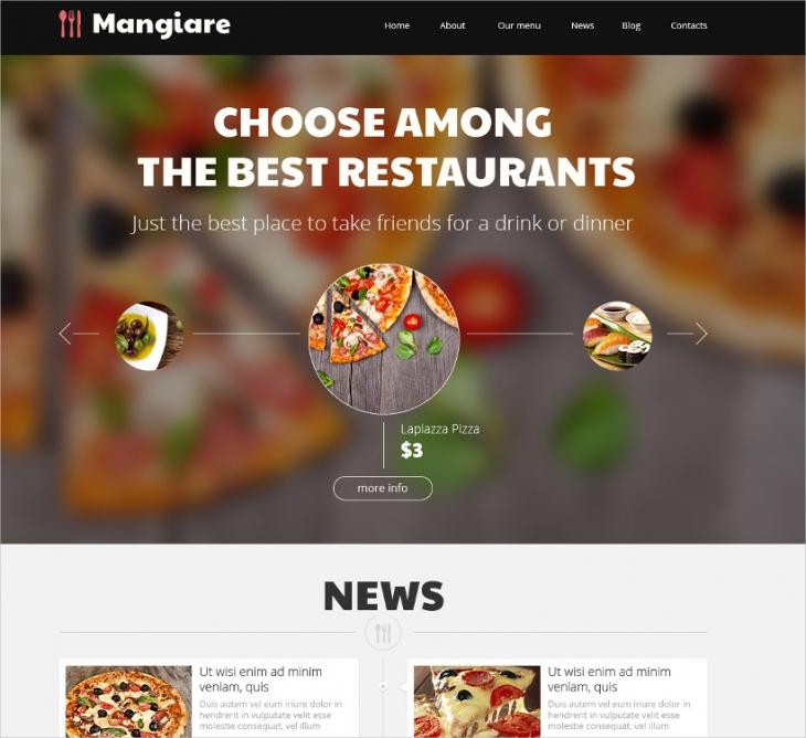 Italian Restaurant Website Template