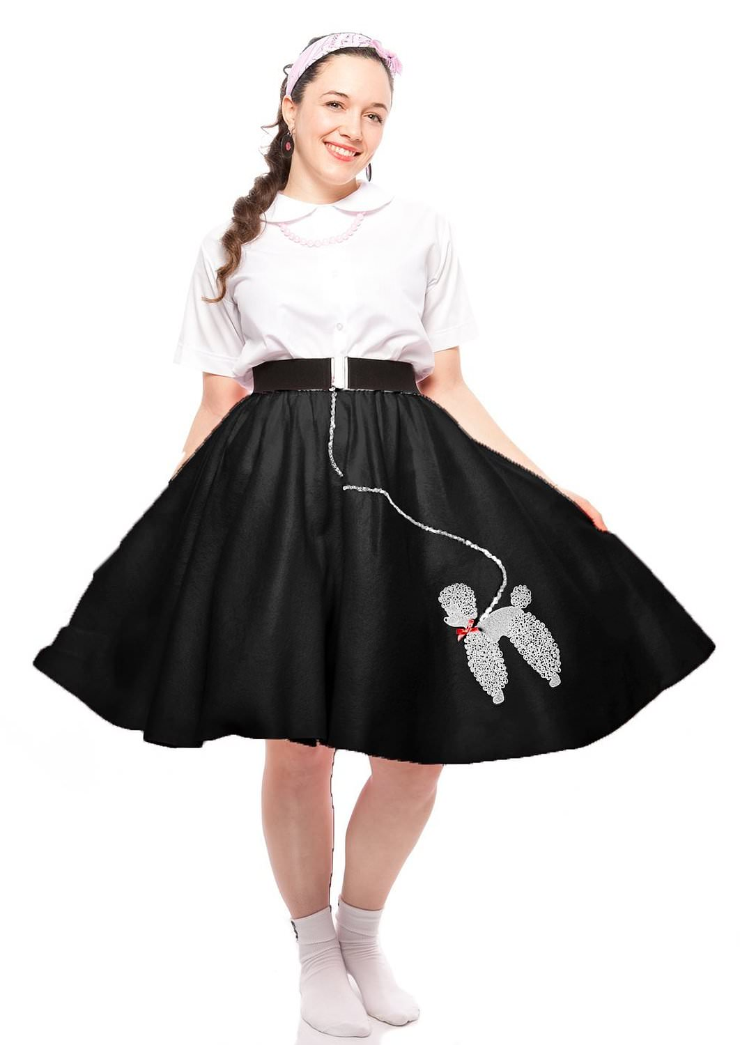 felt poodle skirt in retro colors