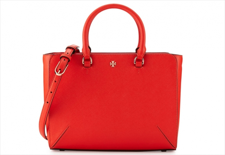 Tory Burch Poppy Red Leather Bag