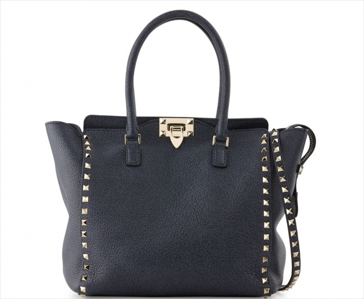Valentino Medium Leather Shopper Bag