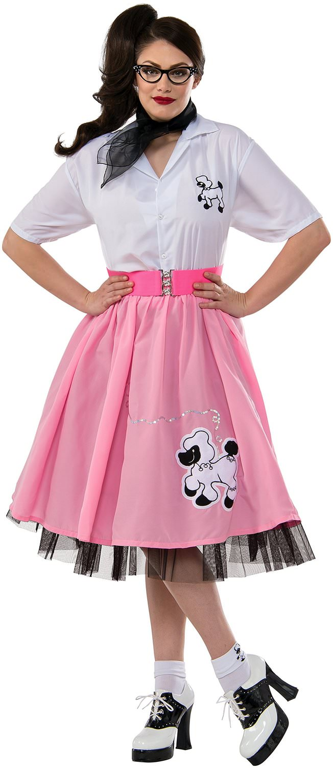 Pink Poodle Skirt Costume