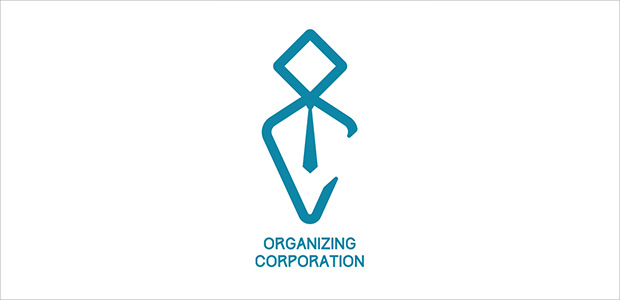 flat oraganization business logo