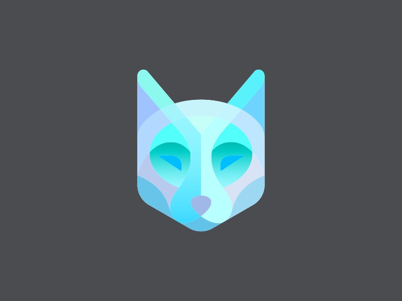 colorful wolf logo design