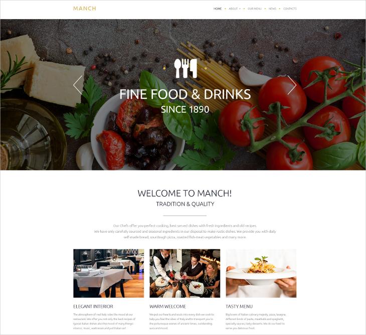 Manch Restaurant Template