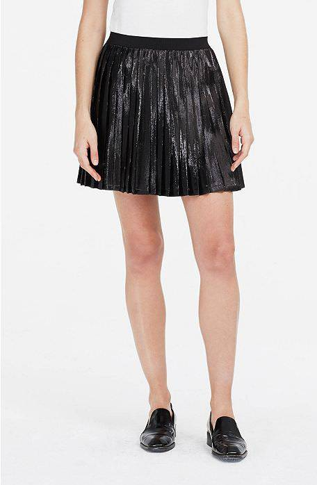 pleated metallic skirt1