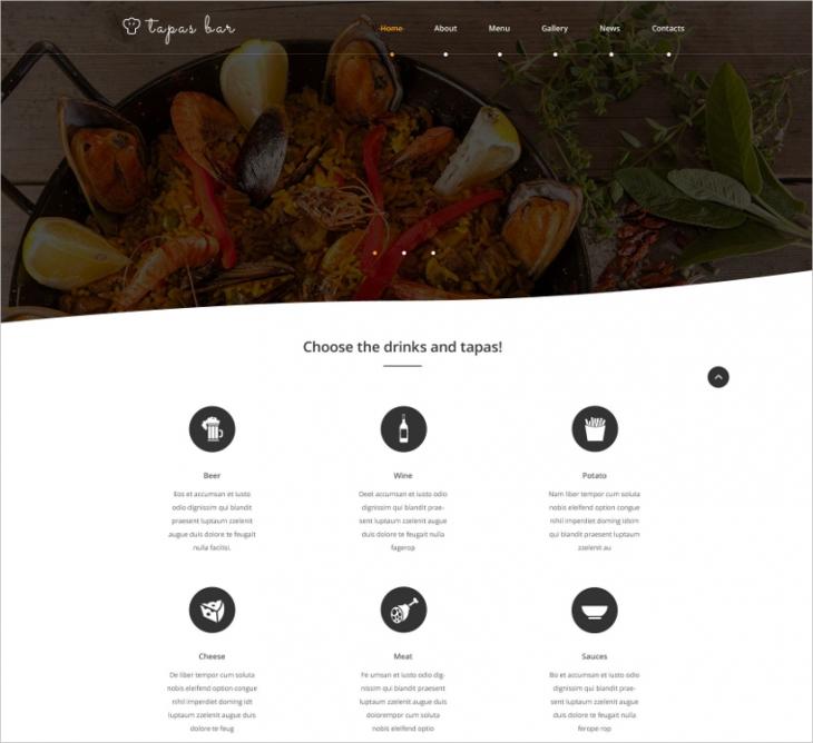 Tapas Bar Web Template