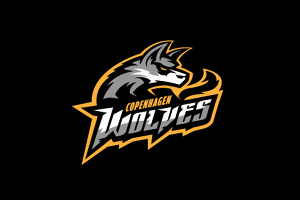 wolf logo design for sports team