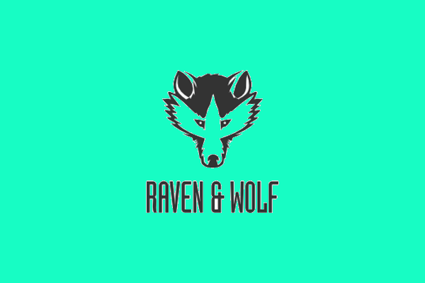 raven and wolf logo design