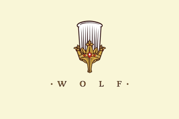 wolf logo design for restaurant