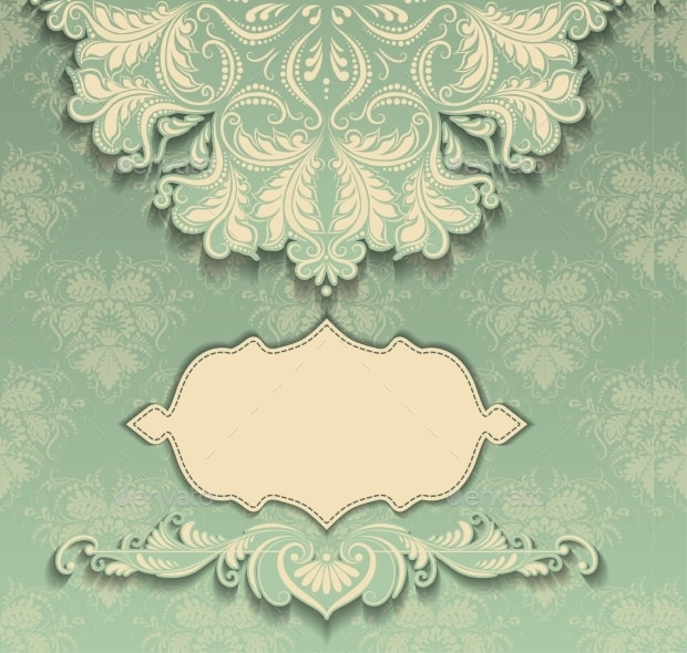 Floral Print Art Deco Pattern
