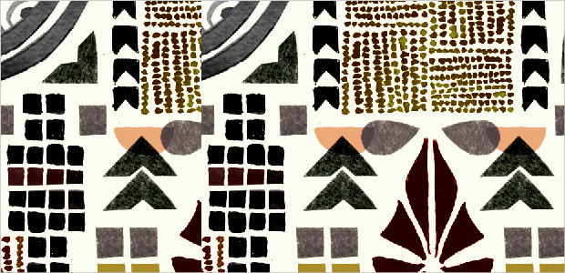 collage art deco pattern