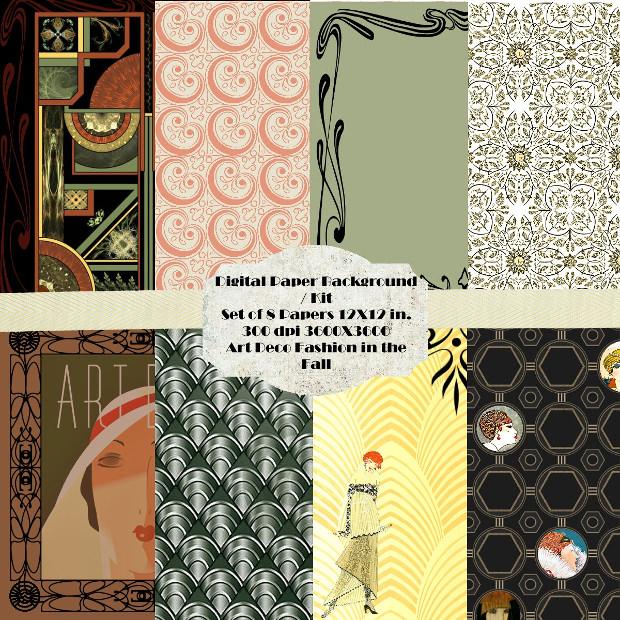 8 Fashion Art Deco Patterns