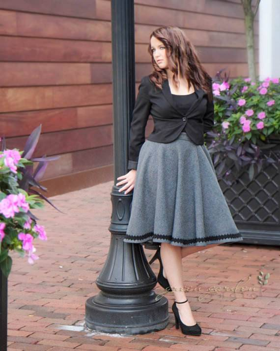 miss jane greys trimmed circle skirt