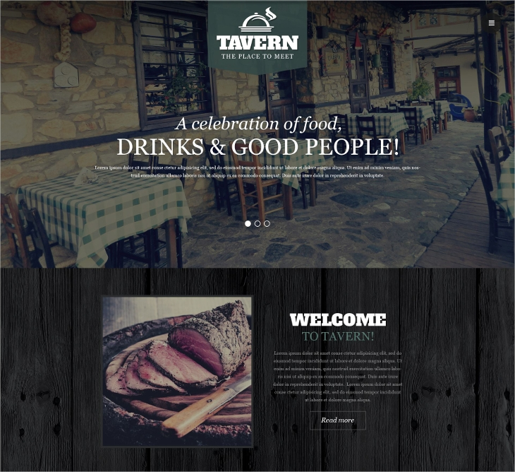 Tapas Responsive Website Template