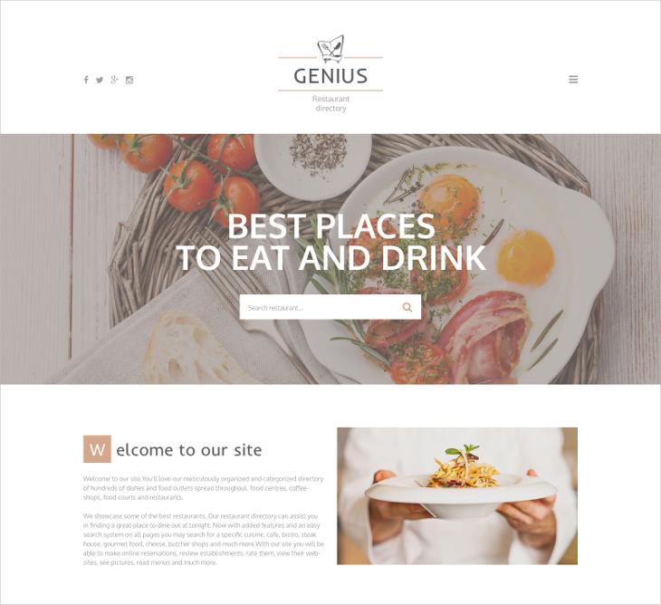Restaurant Directory Template