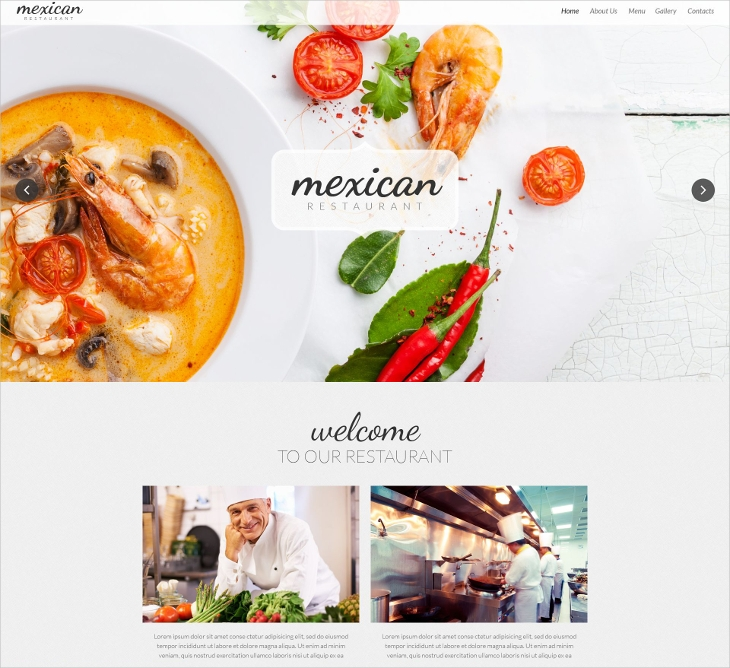 Mexican Responsive Restaurant Template