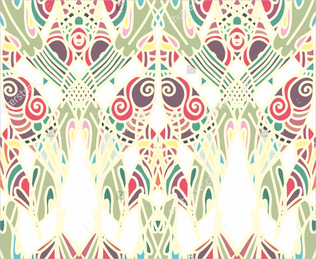 art deco pattern in different colors