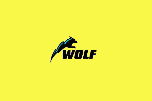 wolf logo design for electrical company