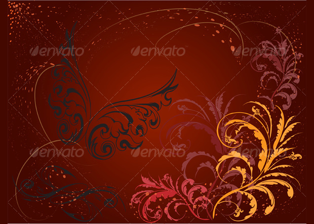 dark color art deco pattern
