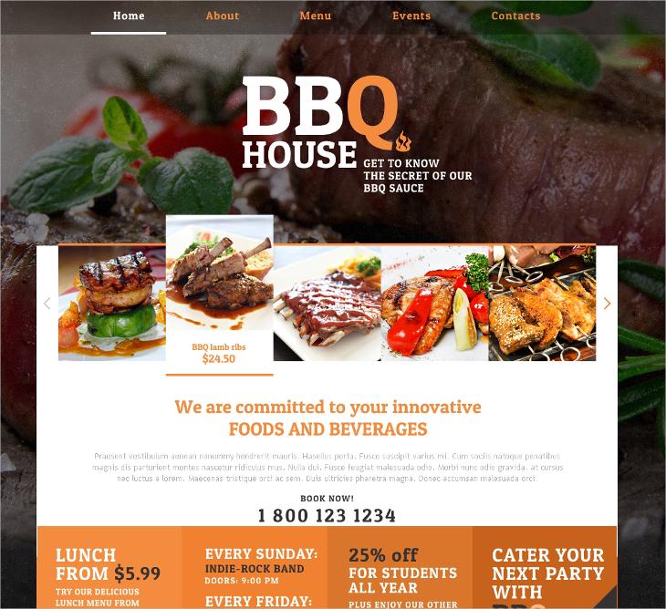 BBQ Responsive Website Template