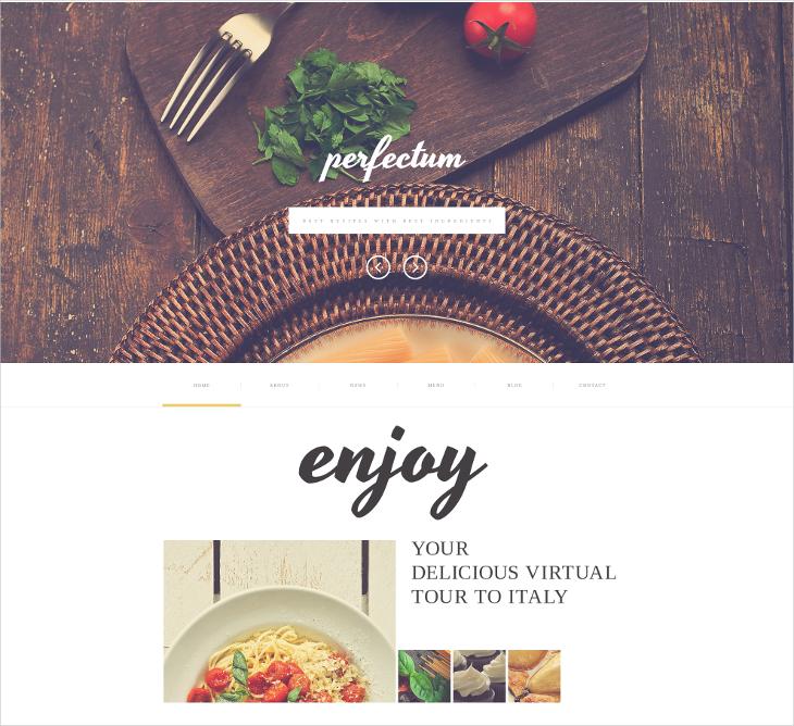 European Restaurant Website Template
