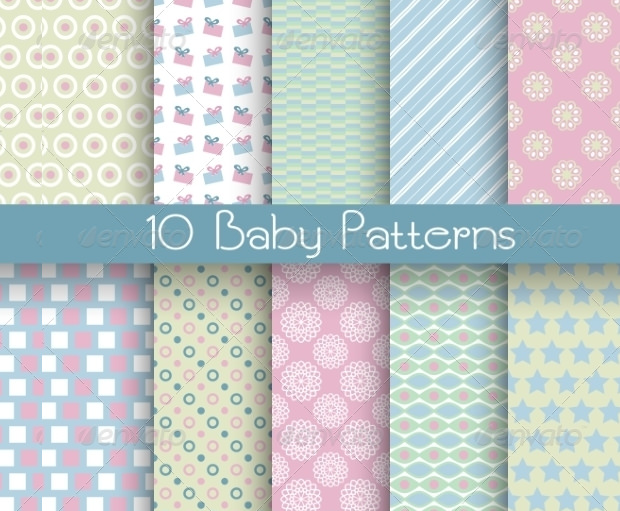 Baby Cloth Different Seamless Patterns