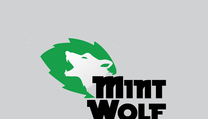 mint wolf logo design