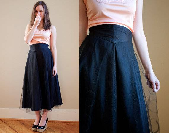 vintage tulle circle skirt with circle