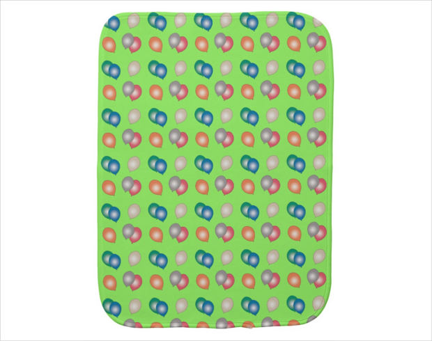 Colorful Balloons Pattern Baby Burp Cloth
