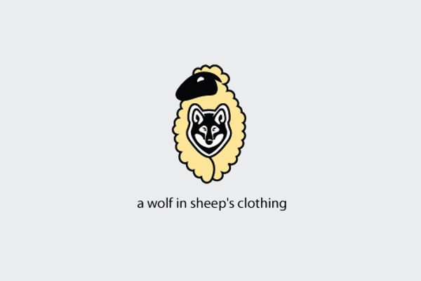 wolf logo design for kids store
