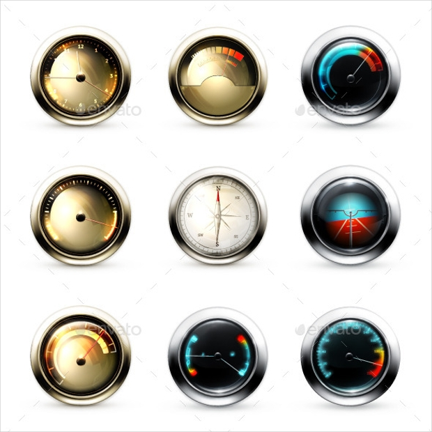 Measuring Devices Icons