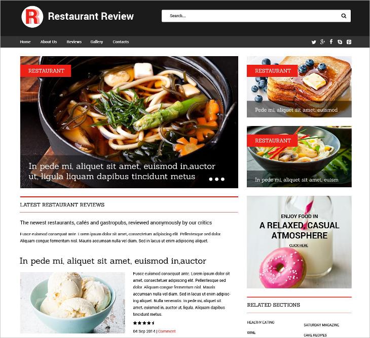 Restaurant Reviews Template